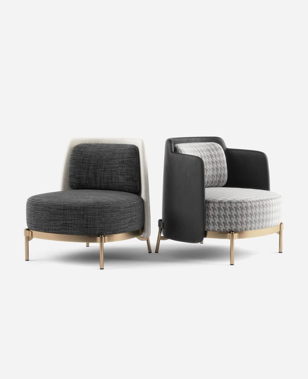 3D visualisation armchairs