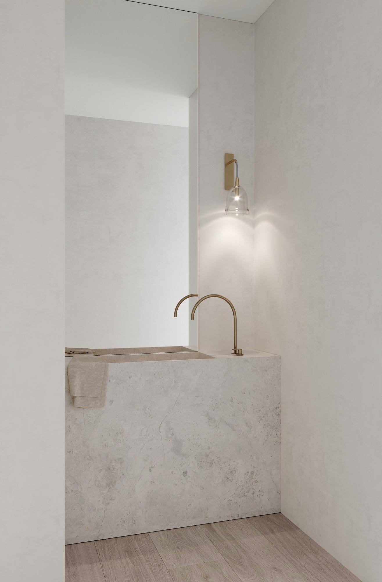 Bathroom with Articolo lighting