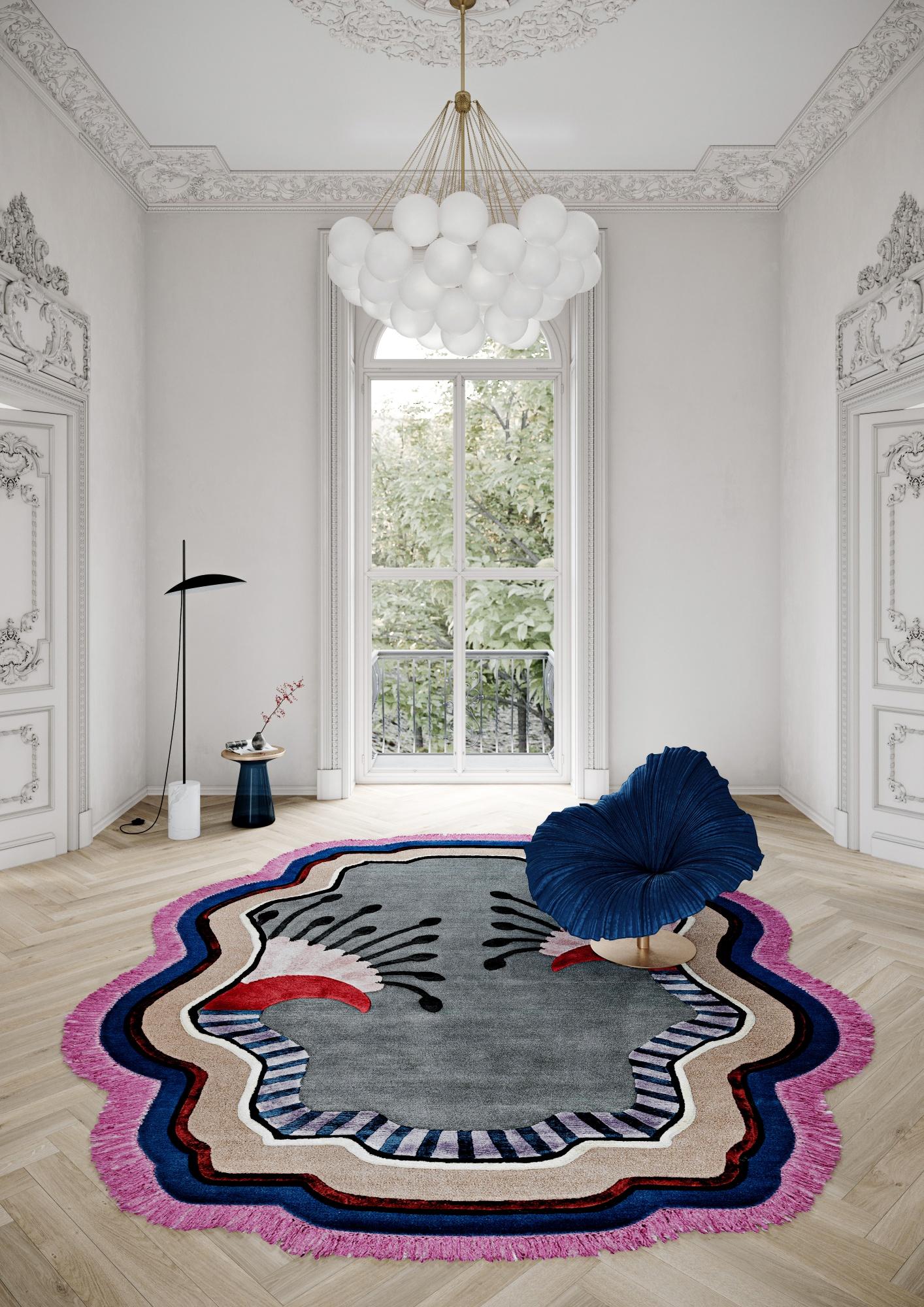 Luxury Parisian appartment with Illulian rug