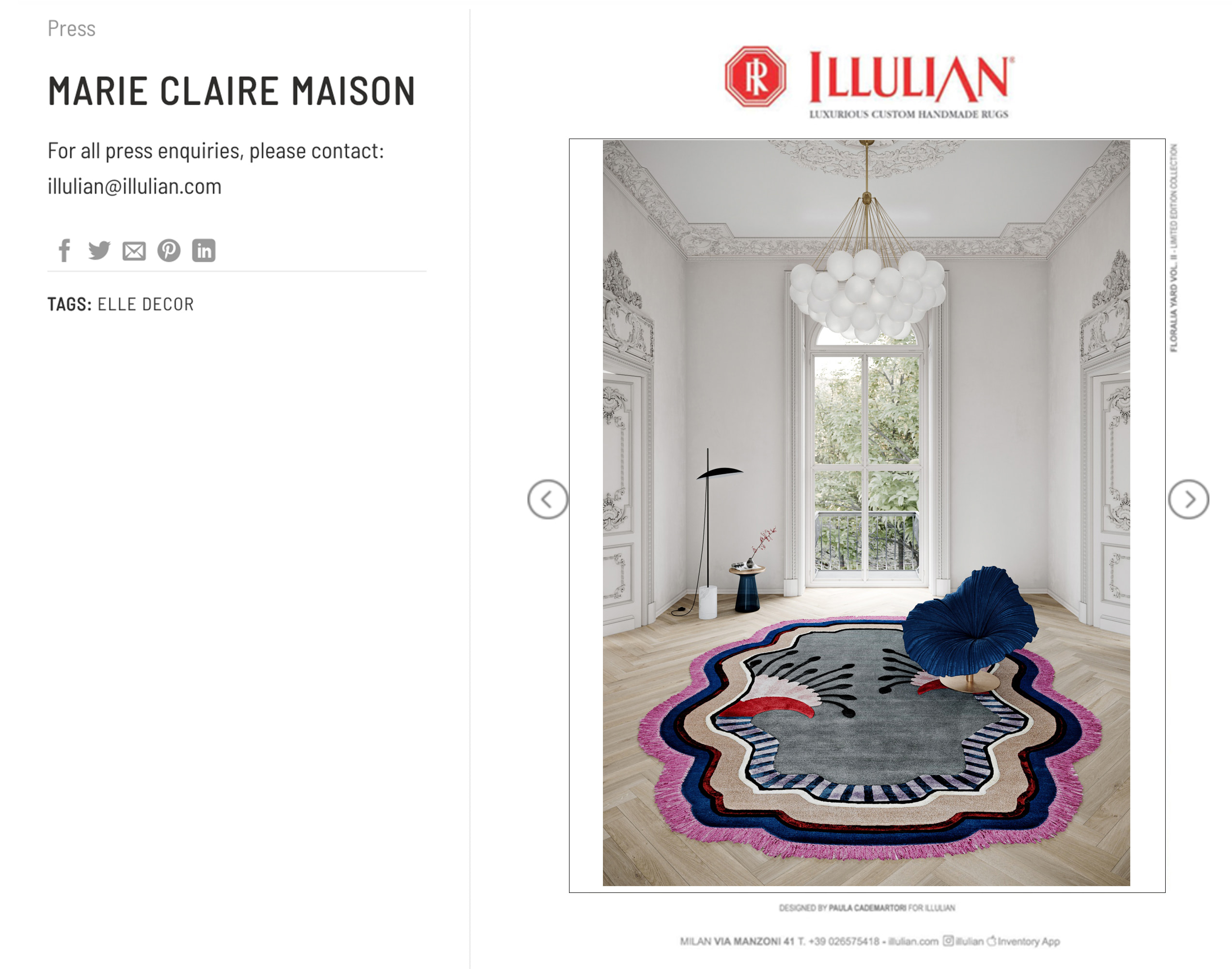 Illulian Marie Claire Maison