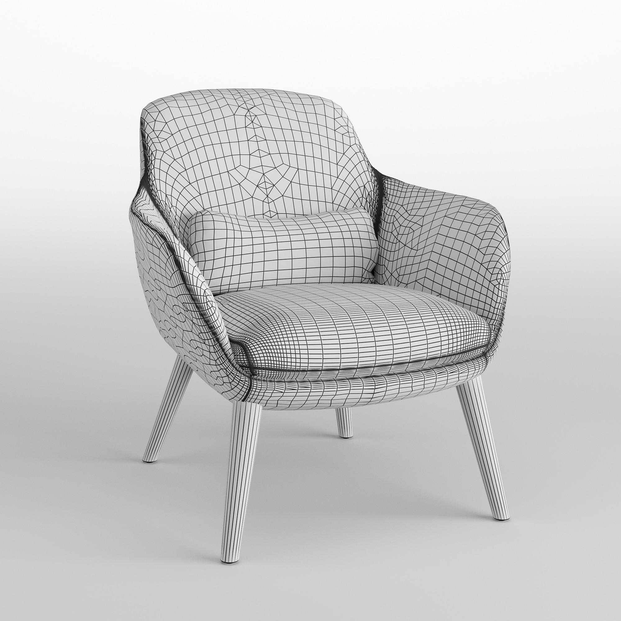 Papadatos armchair wireframe
