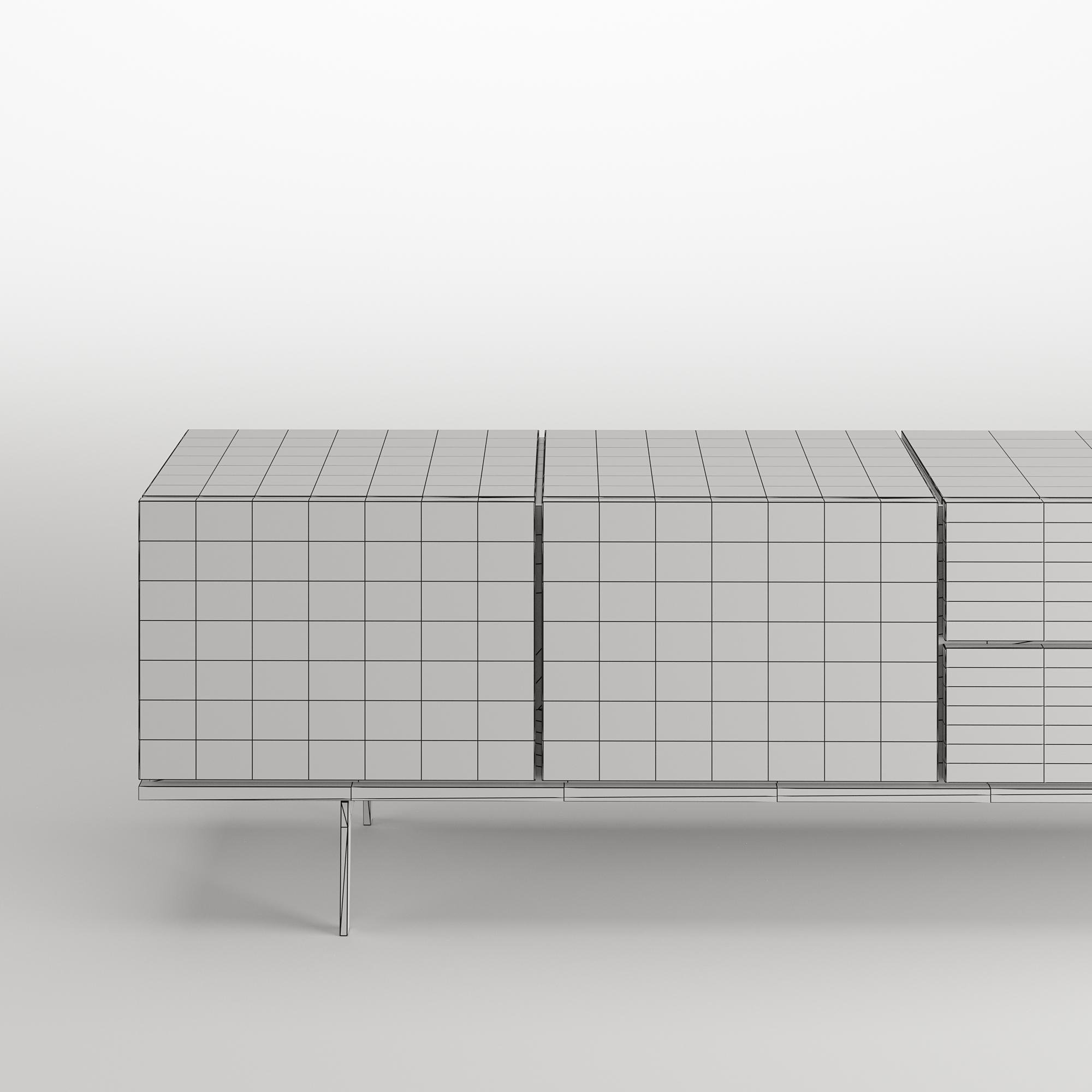 Papadatos Twist H cabinet wireframe