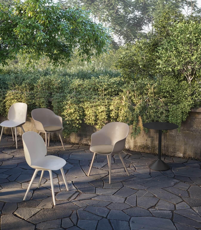 GUBI chairs in the garden