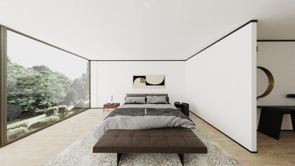 Living Divani virtual apartment bedroom