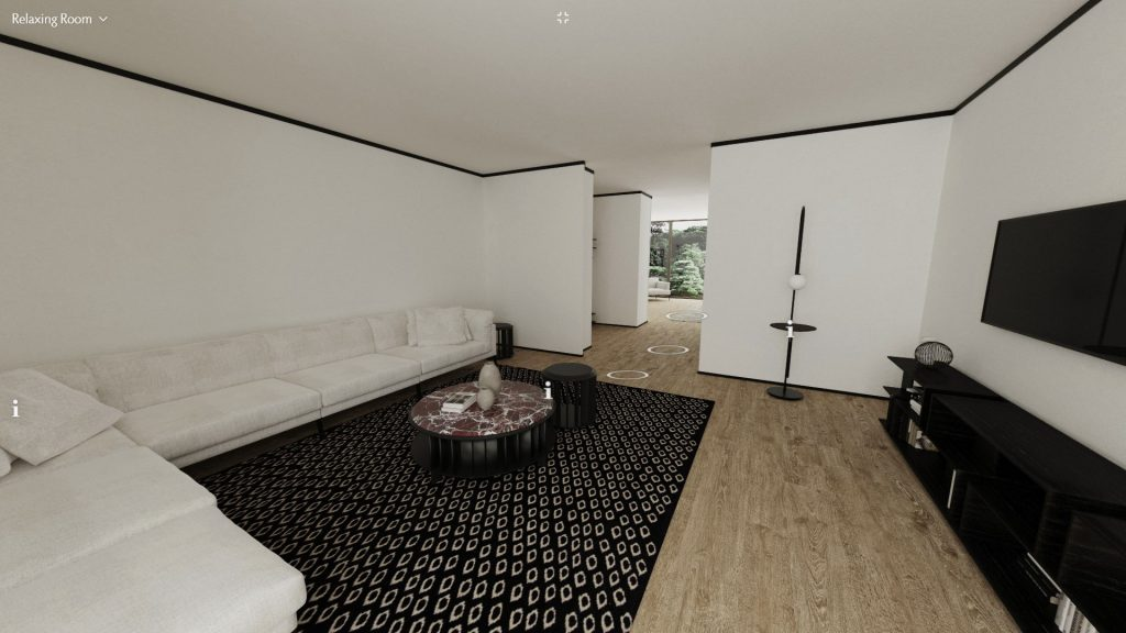 Living Divani virtual apartment relaxing room
