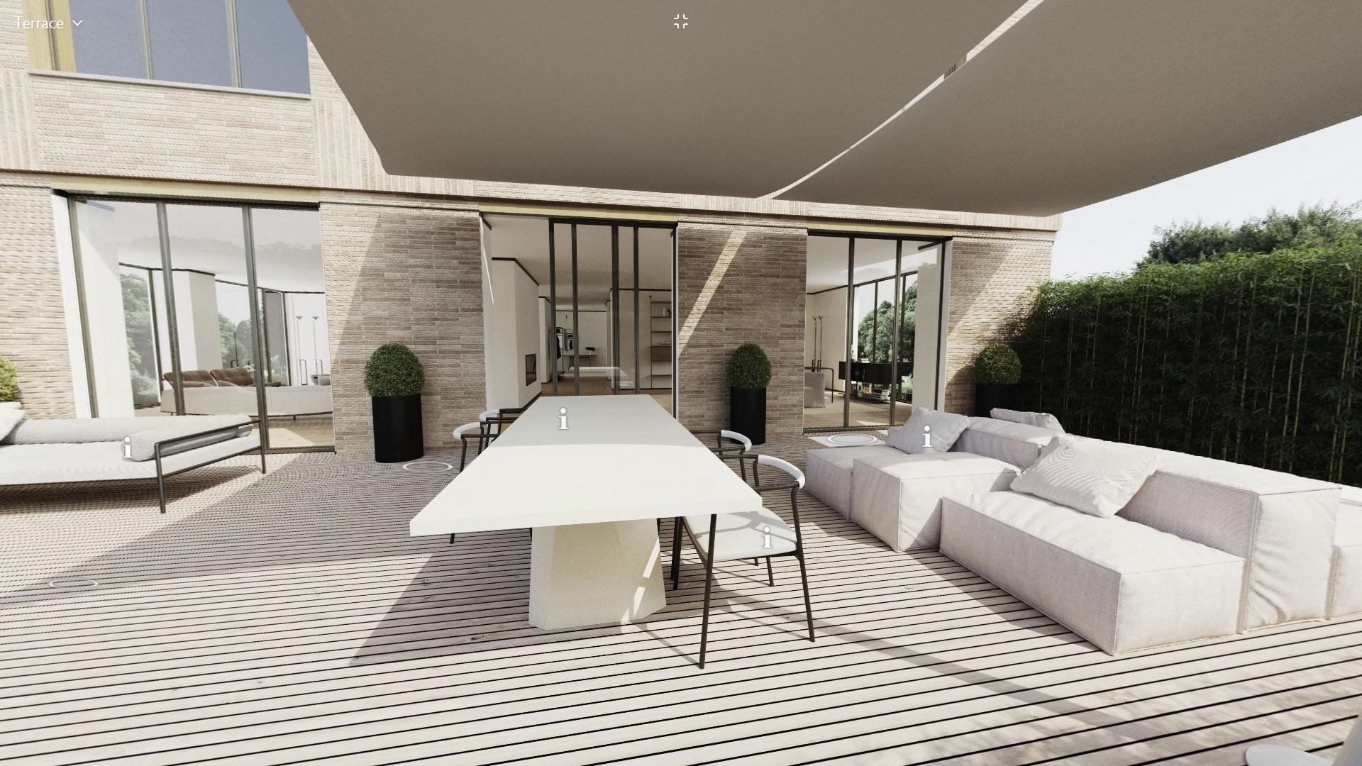 Living Divani virtual apartment terrace