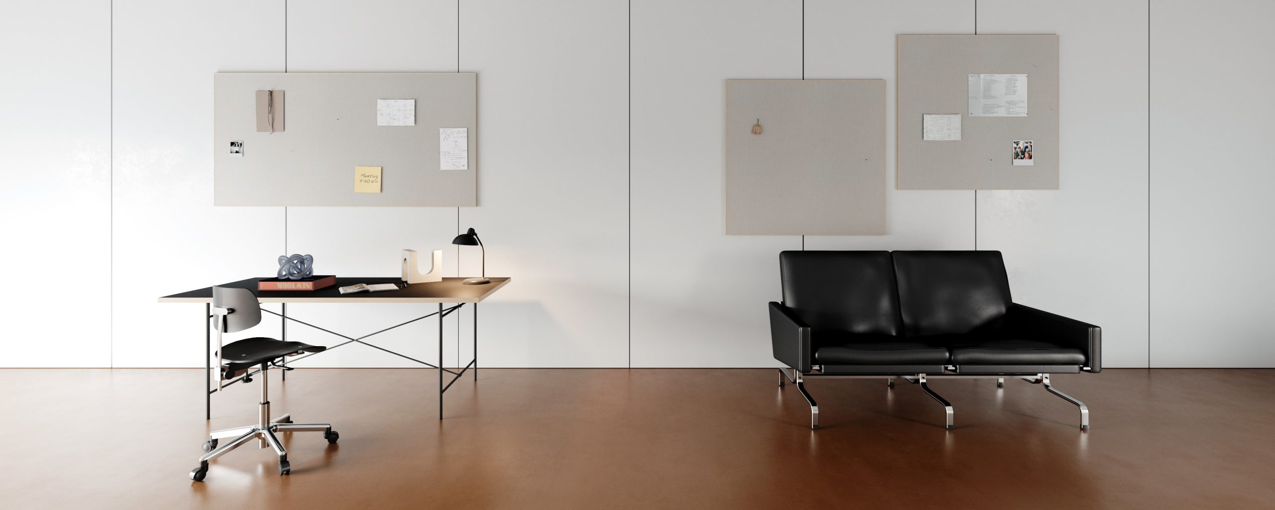 Akuart office with sofa