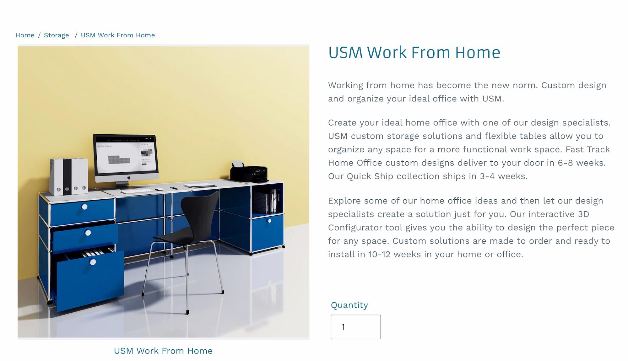 USM retailer M2L website