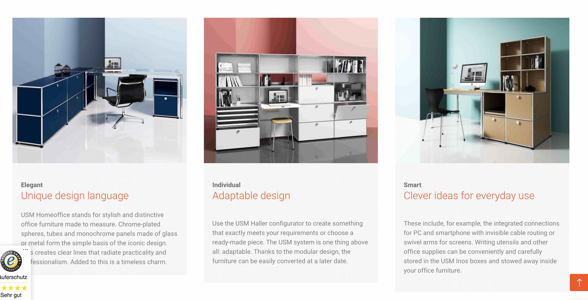 USM retailer web